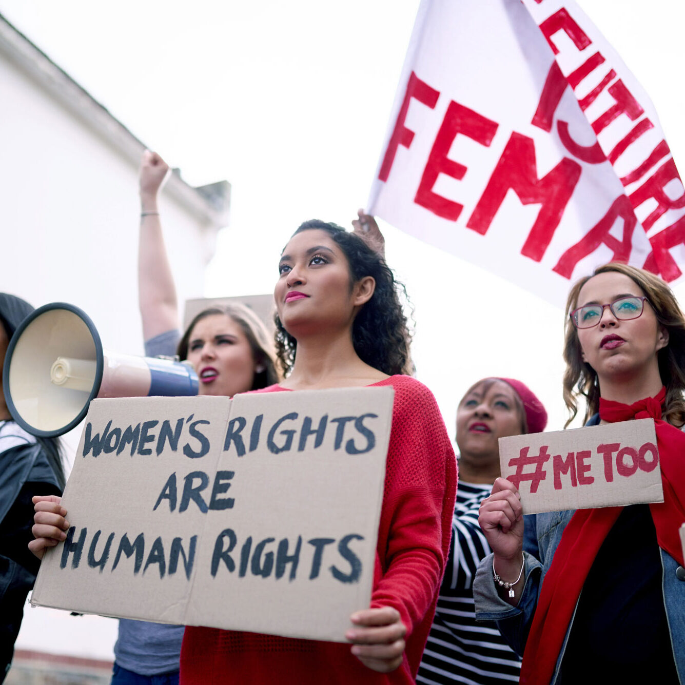 group of women's rights protestors